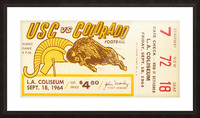 1964 USC vs. Colorado Picture Frame print