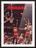 1981 indiana hoosiers basketball poster Picture Frame print