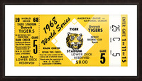 1968 Detroit Tigers World Series Tickets Picture Frame print