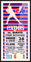 1985 Montreal Expos vs. San Francisco Giants Picture Frame print
