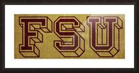 1950s Florida State University Art FSU Picture Frame print
