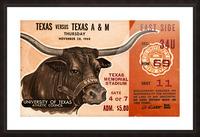 1968 Texas vs. Texas A&M Picture Frame print
