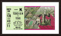 1977 texas am aggies college station football ticket stub wall art Picture Frame print
