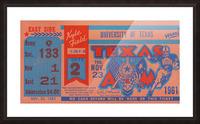 1961 texas am aggies football ticket wall art Picture Frame print