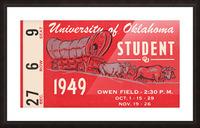 1949 oklahoma sooners football student season ticket art Picture Frame print