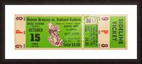 1961 oakland raiders denver broncos afl ticket stub art Picture Frame print