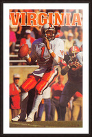 1986 virginia cavaliers football poster Picture Frame print