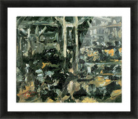 Cow Stable by Lovis Corinth Picture Frame print
