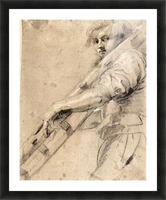 Man carrying a ladder by Rubens Picture Frame print