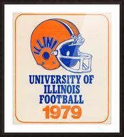 1979 illinois football helmet art Picture Frame print