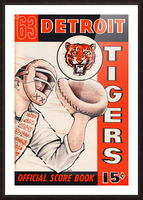 1963 detroit tigers baseball score book canvas art Picture Frame print