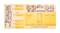 1983 84 la lakers nba playoff ticket art Picture Frame print