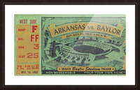 1953 arkansas baylor football ticket wall art Picture Frame print