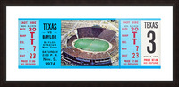 1974 baylor bears texas college football ticket art Picture Frame print