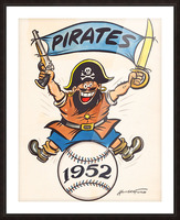 1952 pittsburgh pirates artist cy hungerford Picture Frame print