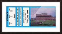 1988 oklahoma sooners kansas college football ticket art  Picture Frame print
