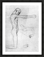 Man with with outstretched arms by Klimt Picture Frame print