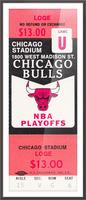 1982 chicago bulls nba playoffs phantom ticket Picture Frame print