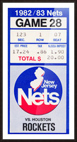 1982 houston rockets new jersey nets nba basketball ticket stub wall art Picture Frame print