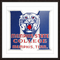 1950s Memphis State College Tigers Picture Frame print
