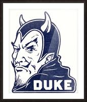 1950s duke university blue devil college art Picture Frame print