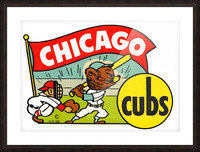 1960s chicago cubs art Picture Frame print