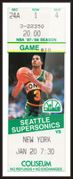 1987 seattle supersonics new york knicks basketball ticket stub canvas art Picture Frame print