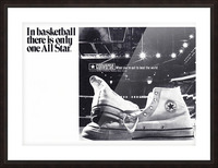 1968 converse all star shoe ad reproduction wall art Picture Frame print