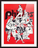 1977 philadelphia phillies champions retro baseball poster Picture Frame print