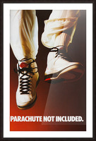1987 nike air jordan ad poster parachute not included reproduction art Picture Frame print