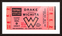 1957 drake wichita kansas college football ticket wall art Picture Frame print