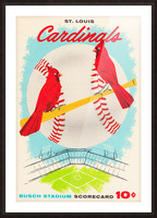 1957 st louis cardinals baseball score card wall art Picture Frame print