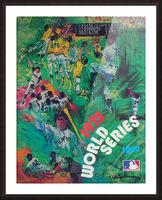 1975 world series program cover leroy neiman wall art Picture Frame print