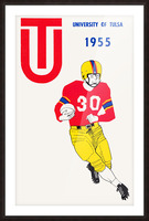 1955 university of tulsa football poster Picture Frame print