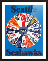 1976 seattle seahawks art Picture Frame print