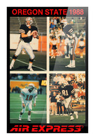 1988 oregon state osu beavers air express offense Picture Frame print