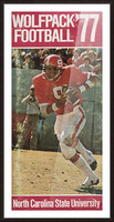 1977 nc state wolfpack retro college football poster johnny evans qb Picture Frame print