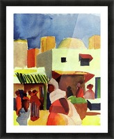 Market in Algier by Macke Picture Frame print