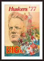 1977 nebraska cornhuskers tom osborne big 8 college football poster Picture Frame print