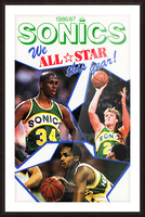 1987 seattle supersonics nba all star game poster Picture Frame print