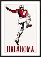 vintage oklahoma sooners football art running back Picture Frame print