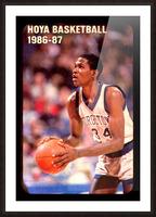 1986 georgetown hoyas basketball reggie williams poster Picture Frame print