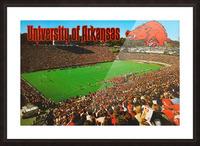 retro arkansas razorbacks football fayetteville razorback stadium photo Picture Frame print