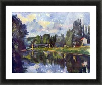 Marne Shore by Cezanne Picture Frame print