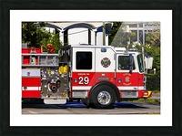 City of Atlanta Fire Engine No 29 6665 Picture Frame print