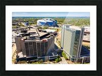 CNN Center Aerial View   Atlanta GA 0588 Picture Frame print
