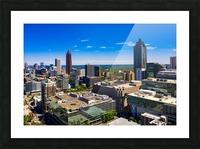 Downtown Atlanta Aerial View   Atlanta GA 0584 Picture Frame print