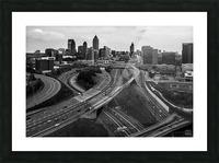 Interstate 75 85 Aerial View   Atlanta GA 0225 Picture Frame print