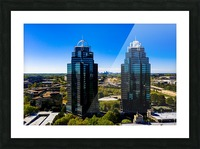 King and Queen Buildings   Atlanta GA 0556 Picture Frame print