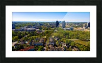 King and Queen Buildings Aerial View   Atlanta GA 0561 Picture Frame print